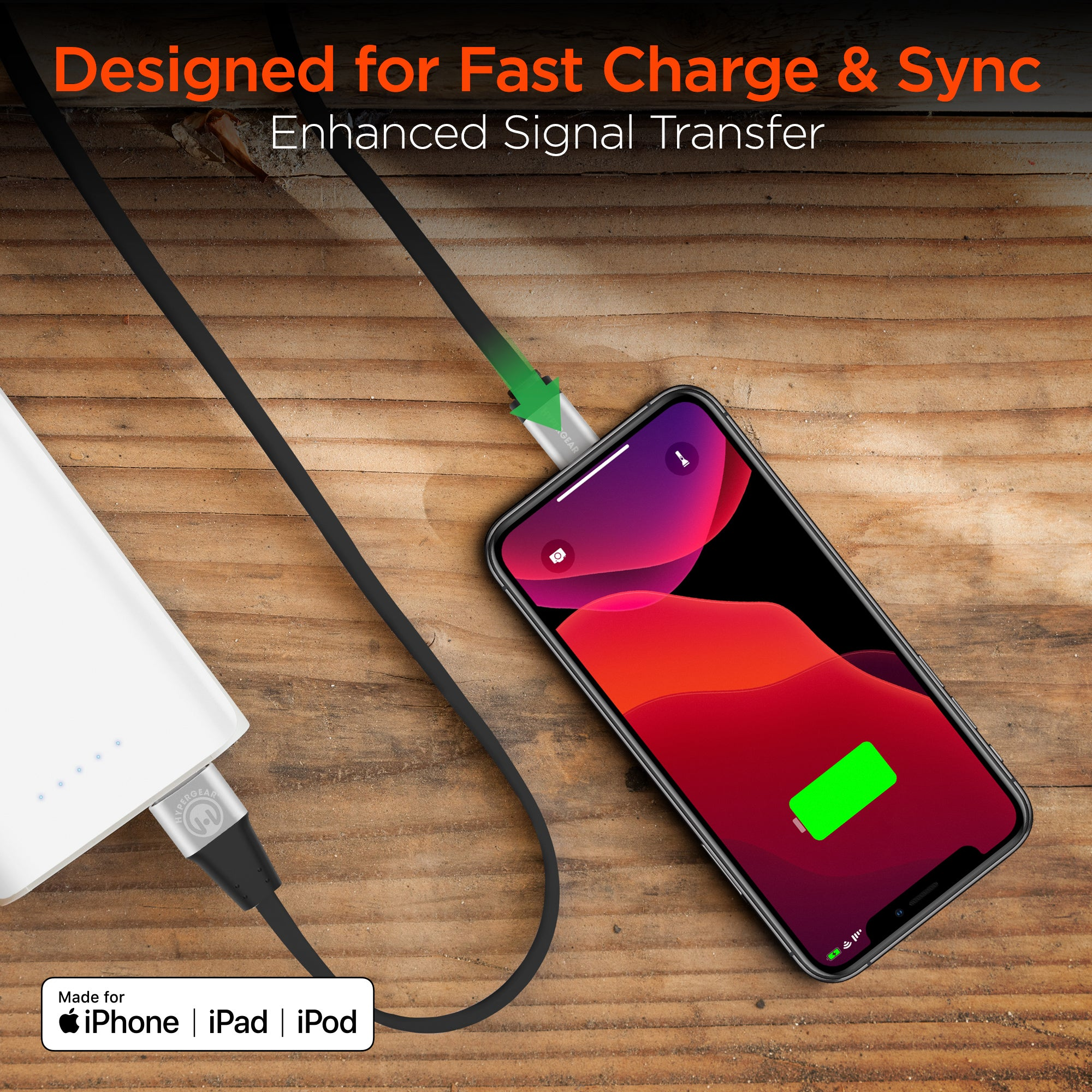 MFi Lightning Flexi Charge & Sync Cable