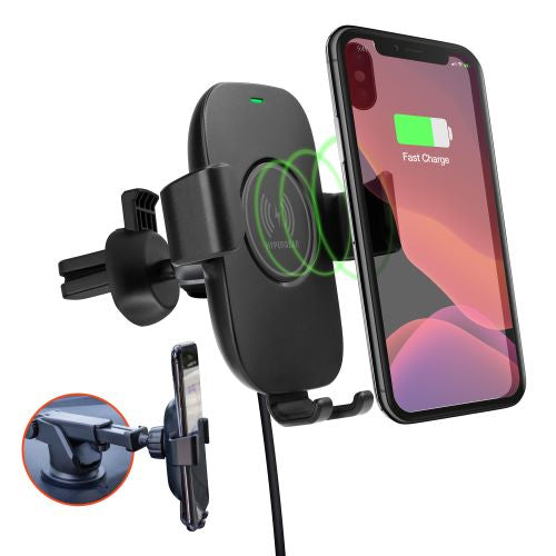 Wireless Fast Charge Kit - Vent + Dash/Windshield Mounts