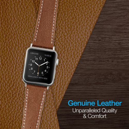 Brown Leather Band for Apple Watch