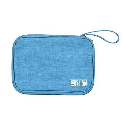 Slim electronics organizer bag