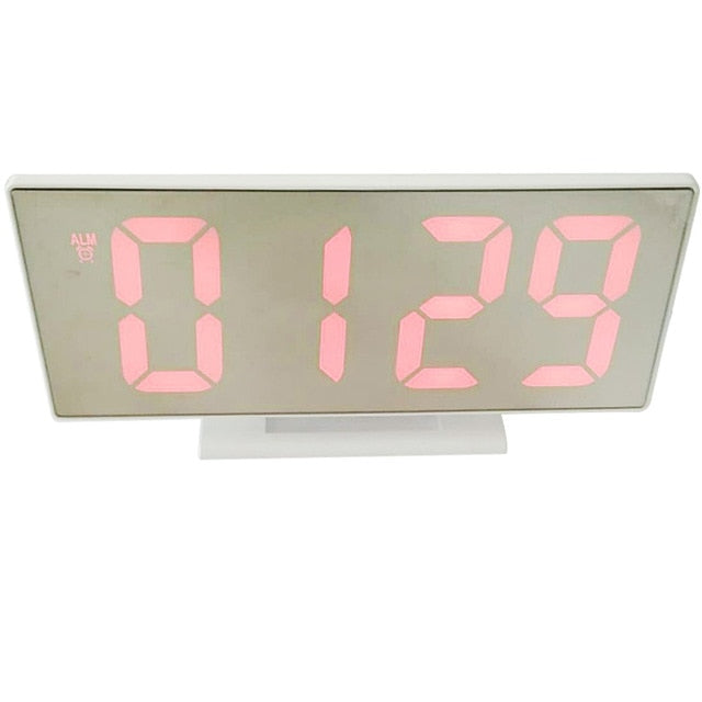 Digital LED Mirror Alarm Clock