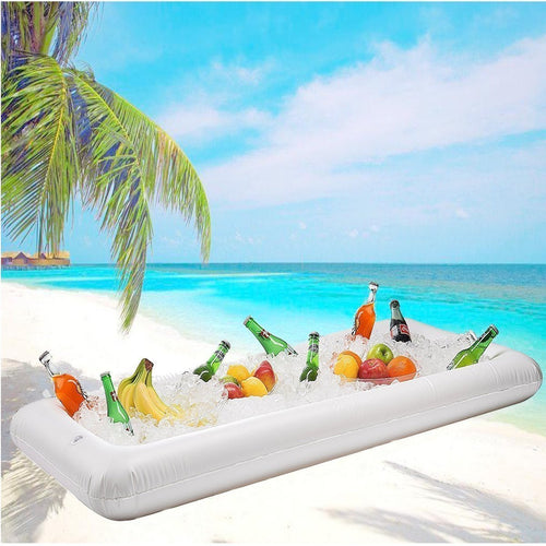 Inflatable Pool Table Serving Bar Large Buffet Tray Server With Drain Plug Keep