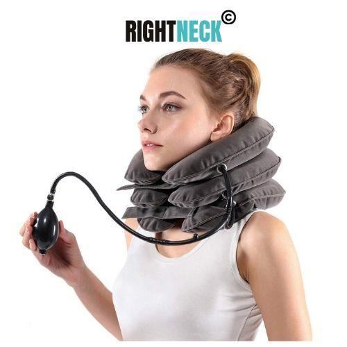 Mrsleeper-RIGHTNECK™- Inflatable Cervical Pillow -grey- best traction device-neck traction device