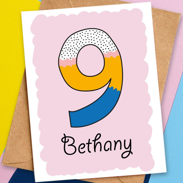 9 birthday card