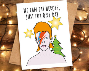 david bowie christmas card