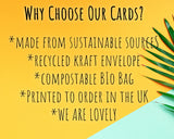 about our eco friendly birthday cards