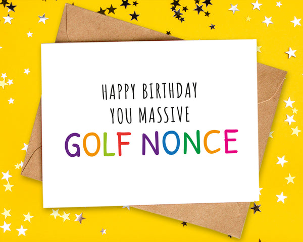 offensive golf birthday card