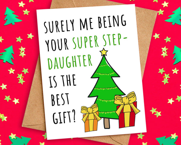 Funny Christmas Card from Step Daughter