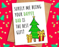 Funny Best Gift Christmas Card from Dad