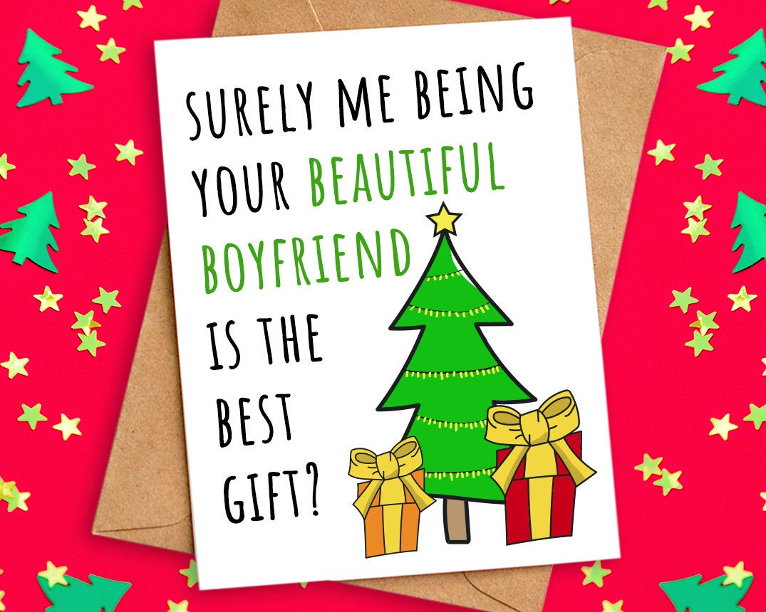 Funny Best Gift Christmas Card for Girlfriend