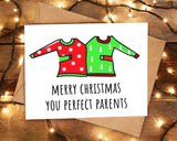 Cute Christmas Jumpers Card for Parents