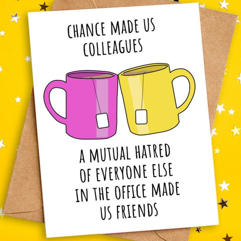 funny card for colleague
