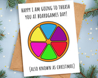 Funny Thrash You at Boardgames Christmas Card