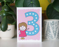birthday card 3 years old