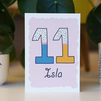 personalised birthday card child