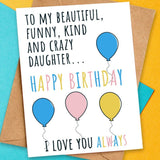 cute birthday card for daughter