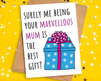 Funny Best Gift Birthday Card to Son Daughter from Mum
