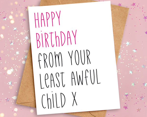 birthday card for mum