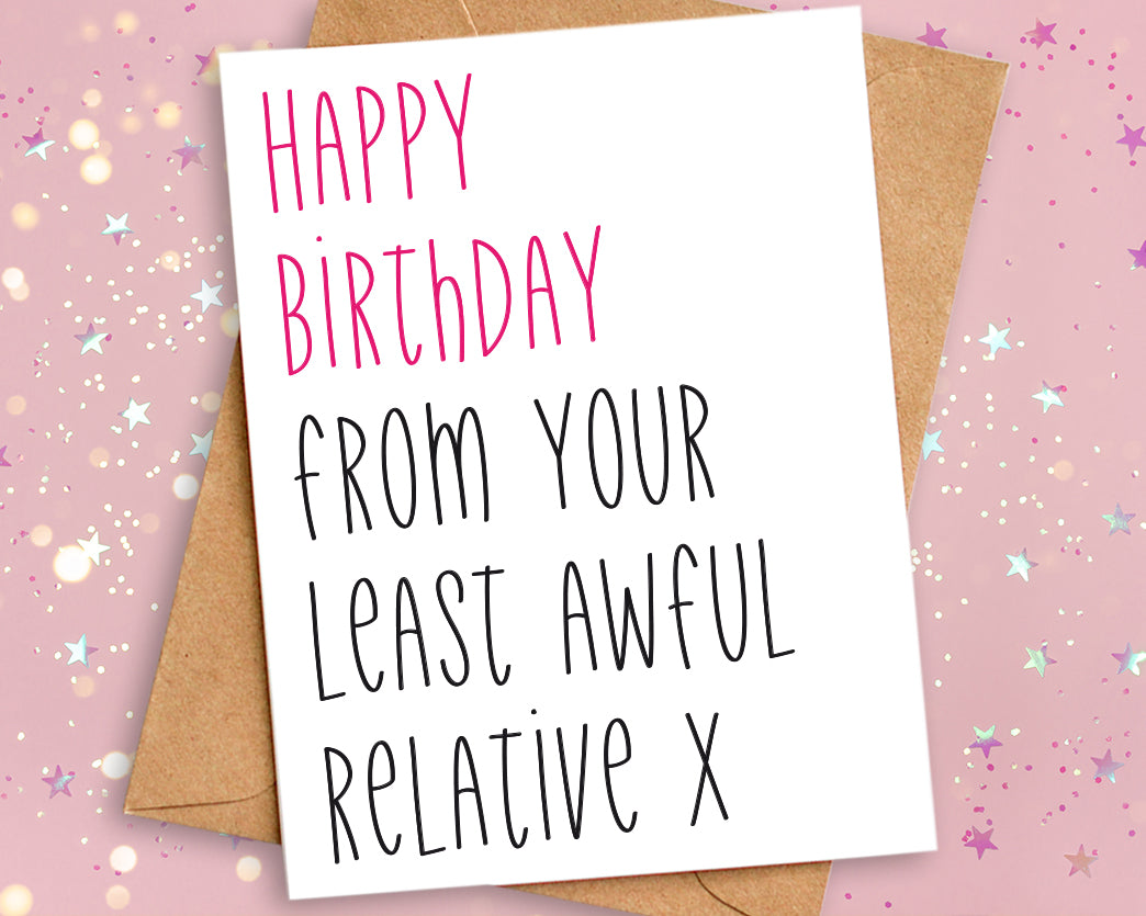 funny birthday card relative