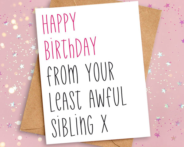 birthday card brother