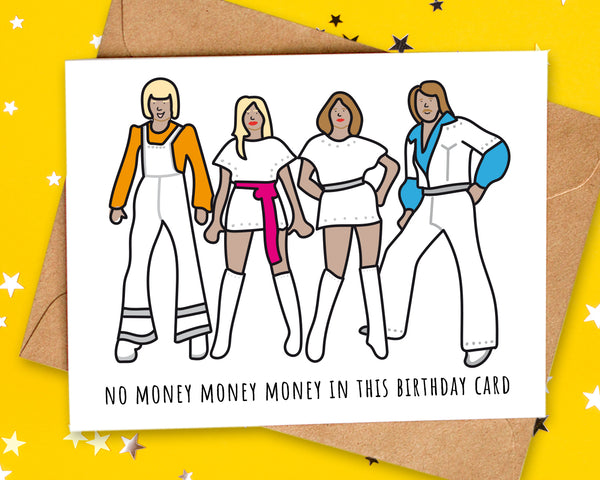 no money in this birthday card
