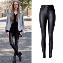 Load image into Gallery viewer, Faux Leather High Waist Skinny Pants