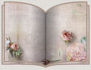 Music Rose Open Book Frame Sublimation Template Download