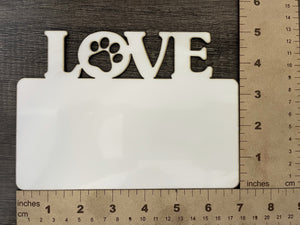 MDF LOVE (Dog) Name Plate
