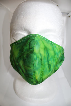 Green Tie Die Pattern Face Mask