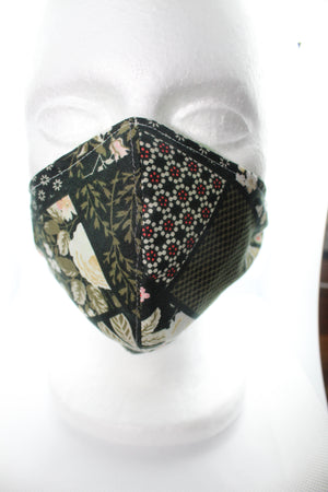 Floral Rose Pattern 100% Cotton Face Mask