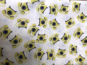 Telephone Pattern 100% Cotton Face Mask