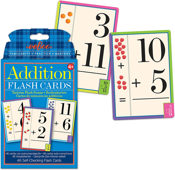 Tarjetas Flash Cards de Suma