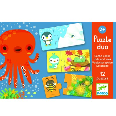 Puzzle Educativo Oculto y Encontrado