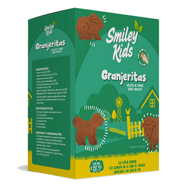 Galletas Smiley Kids Granjeritas Chocolate