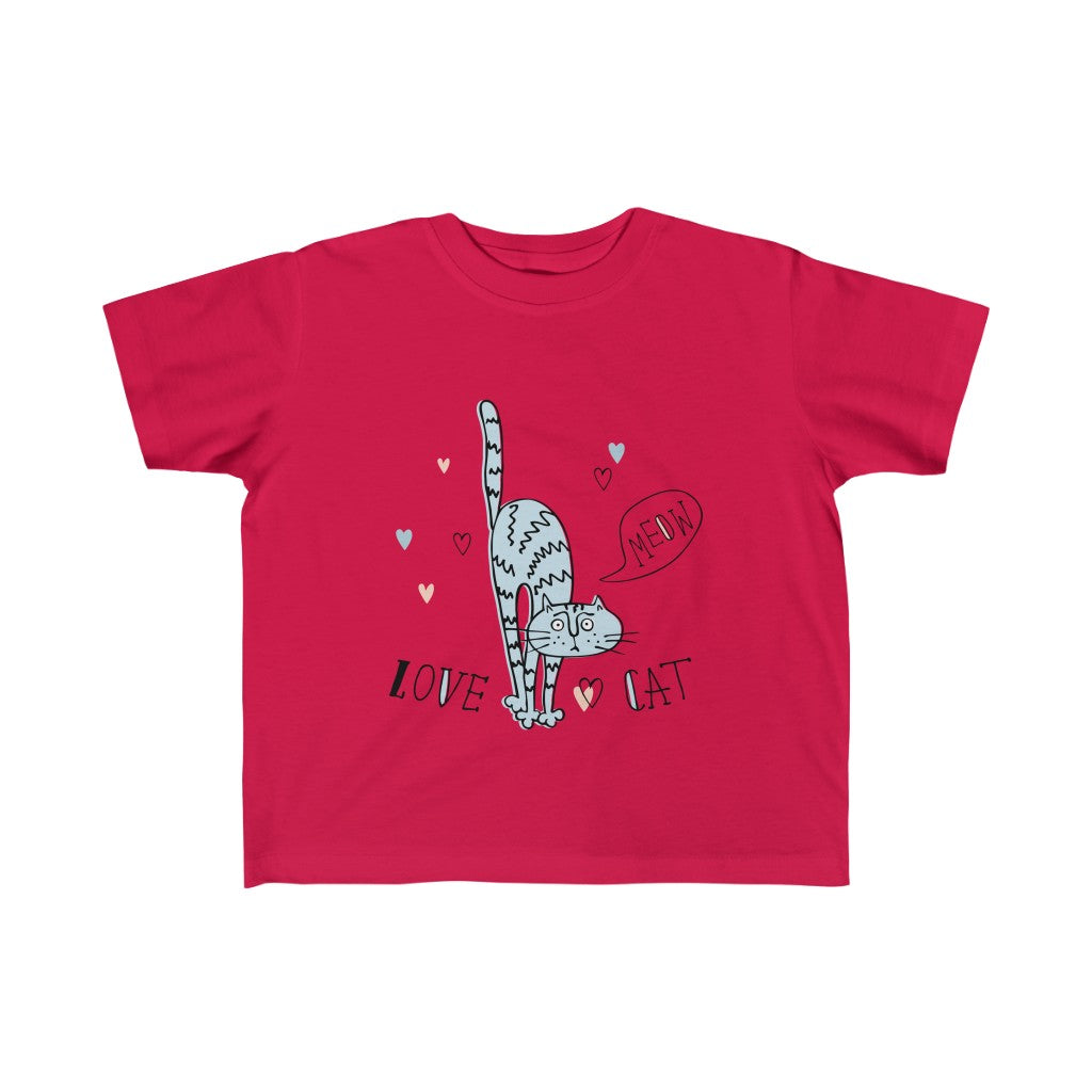 Love Cat - Girls/Kid's Fine Jersey Tee