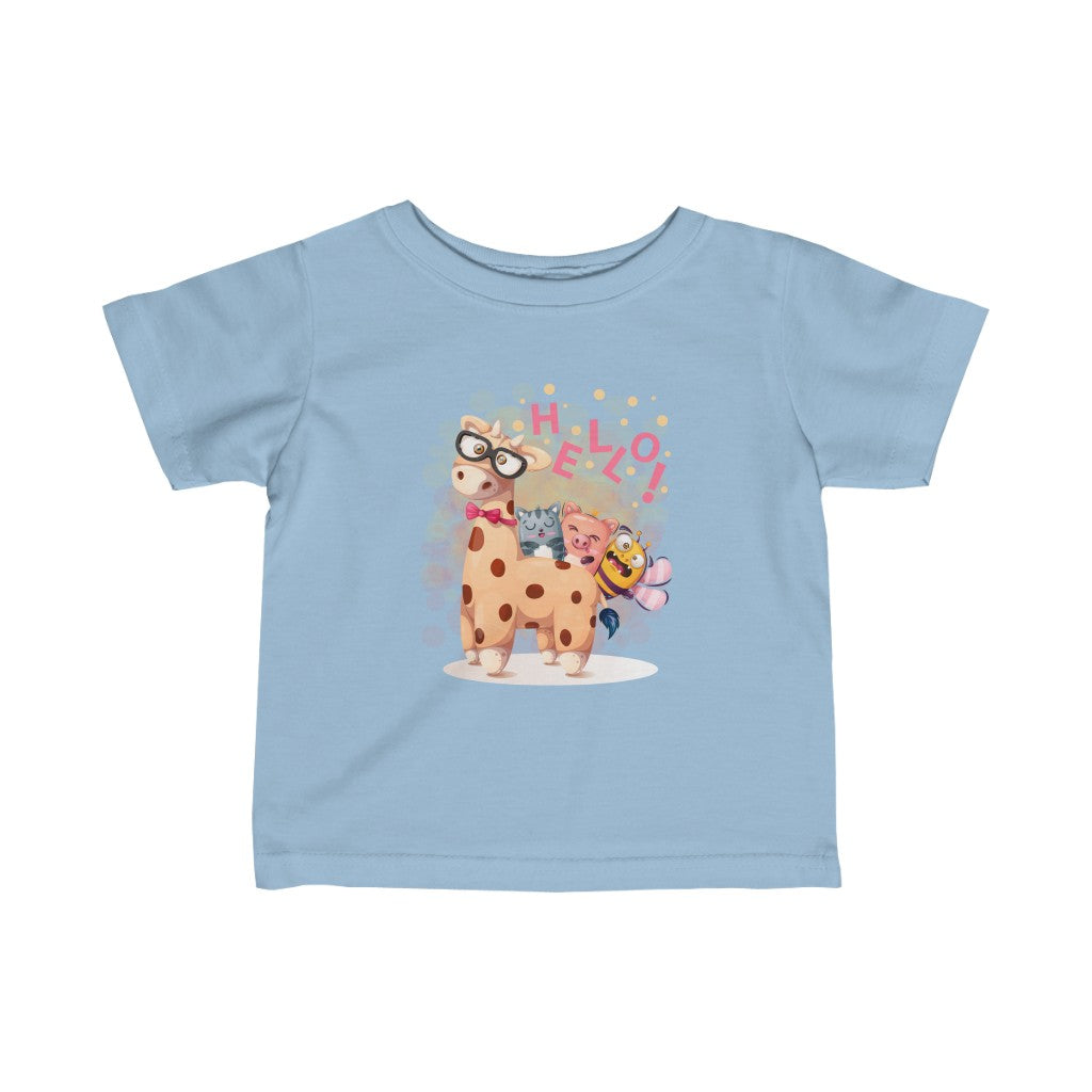 Hello - Infant Fine Jersey Tee