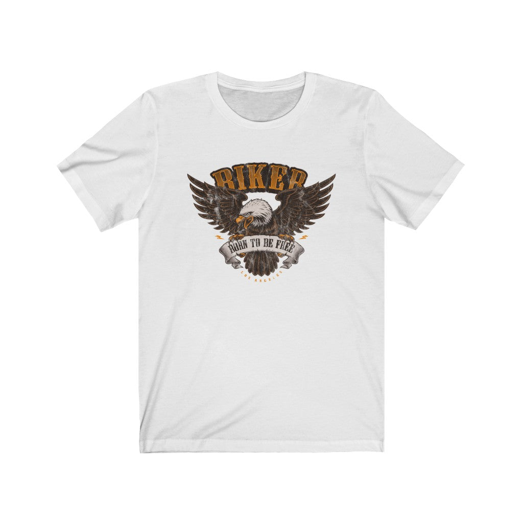 Biker Born To Be Free - Men's Jersey Short Sleeve Tee