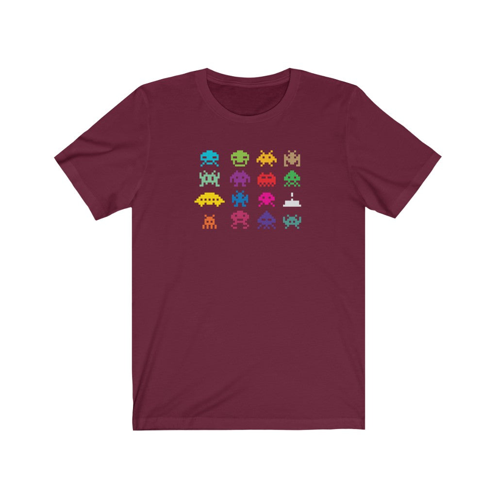 Pixelated Monsters - Men's Jersey Short Sleeve Tee