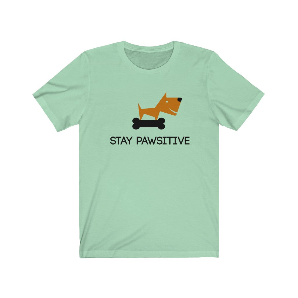Stay Pawsitive - Men's Jersey Short Sleeve Tee