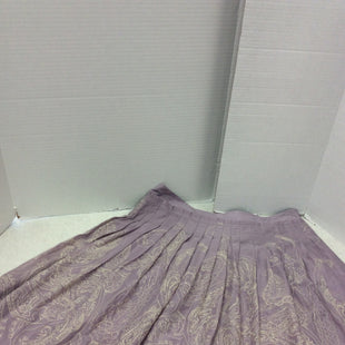 Primary Photo - BRAND: TALBOTS STYLE: SKIRT COLOR: LAVENDER SIZE: 8 SKU: 133-13316-112162 LAVENDER WITH CREAM EMBROIDERED DESIGN