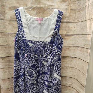 Primary Photo - BRAND: LILLY PULITZER STYLE: DRESS SHORT SLEEVELESS COLOR: BLUE WHITE SIZE: 2 SKU: 133-13341-44888