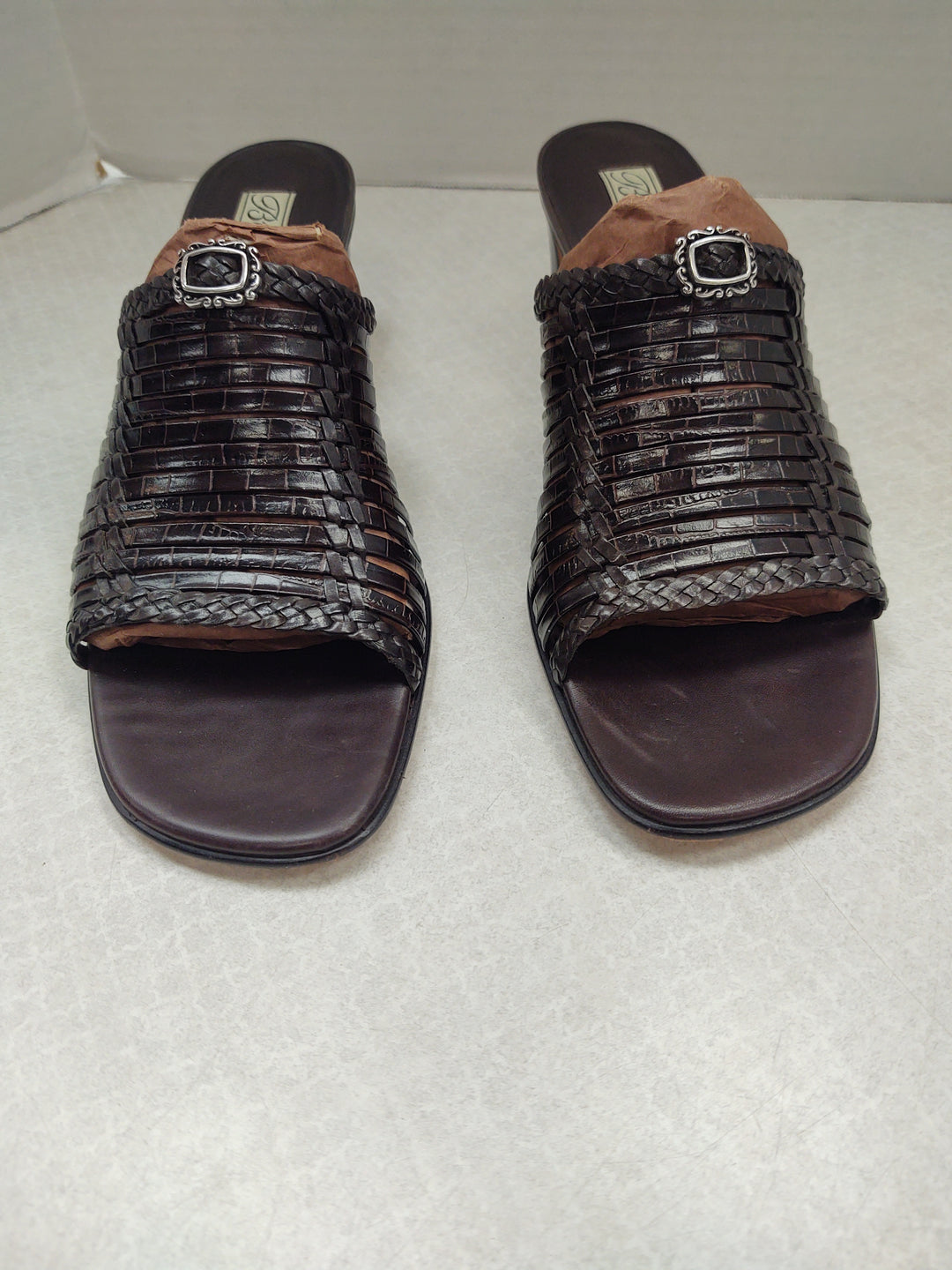 Primary Photo - BRAND: BRIGHTON O <BR>STYLE: SANDALS LOW <BR>COLOR: BROWN <BR>SIZE: 9.5 <BR>SKU: 133-13316-112779