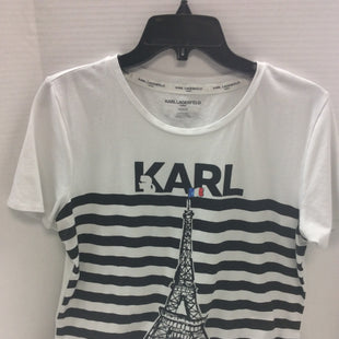 Primary Photo - BRAND: KARL LAGERFELD STYLE: TOP SHORT SLEEVE BASIC COLOR: STRIPED SIZE: M SKU: 133-13316-113911