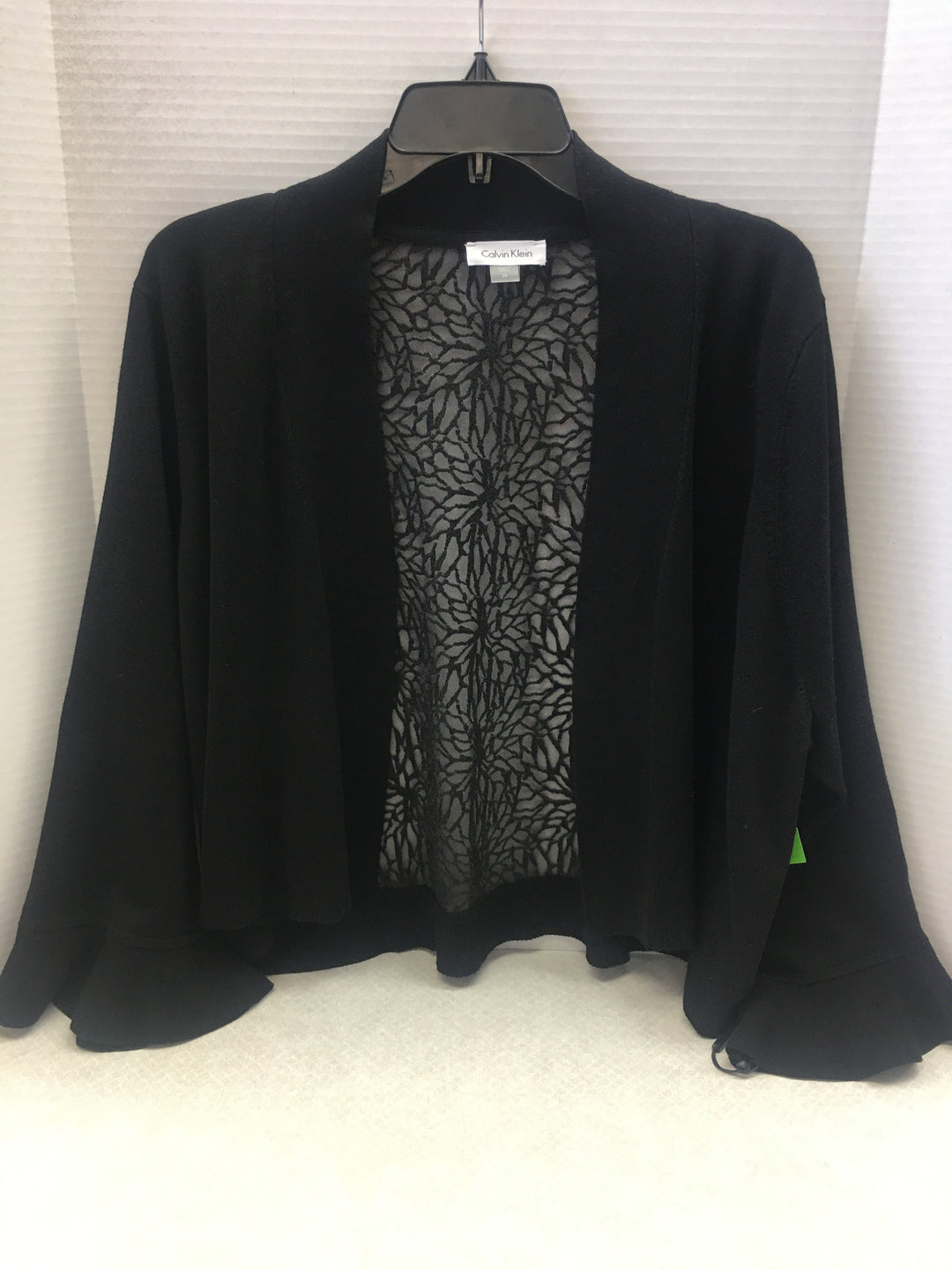 Primary Photo - BRAND: CALVIN KLEIN <BR>STYLE: SWEATER CARDIGAN LIGHTWEIGHT <BR>COLOR: BLACK <BR>SIZE: 3X <BR>OTHER INFO: NEW! <BR>SKU: 133-13316-104994