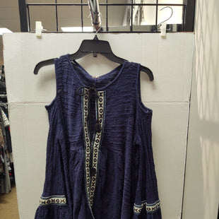 Primary Photo - BRAND: FREE PEOPLE STYLE: TOP LONG SLEEVE COLOR: NAVY SIZE: S SKU: 133-13316-112633COLD SHOULDER