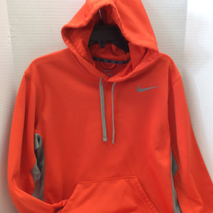 Primary Photo - BRAND: NIKE APPAREL STYLE: SWEATSHIRT HOODIE COLOR: ORANGE SIZE: M SKU: 133-13316-107304GO BRONCOS ORANGE, NIKE HOODIE! SOLD AS IS WITH A SLIGHT STAIN ON THE BACK OF THE SLEEVE AS SHOWN IN PGHOTOS