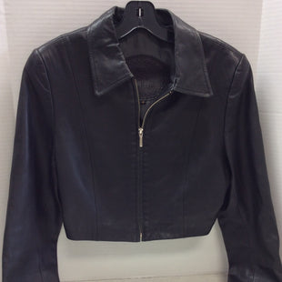 Primary Photo - BRAND:    CLOTHES MENTOR STYLE: JACKET LEATHER COLOR: BLACK SIZE: M OTHER INFO: ROSLEEN - SKU: 133-13316-112318