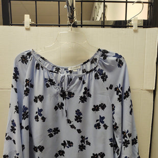 Primary Photo - BRAND: CAROLINA BELLE STYLE: TOP LONG SLEEVE COLOR: FLORAL SIZE: M OTHER INFO: LIGHT BLUE WITH BLACK FLORAL SKU: 133-13373-12257