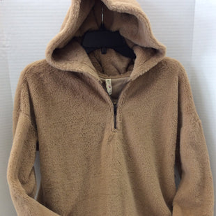 Primary Photo - BRAND: IT STYLE: SWEATSHIRT HOODIE COLOR: TAN SIZE: S SKU: 133-13316-110701STAY TOASTY WARM IN THIS PLUSH TOASTY BROWN HOODIE!