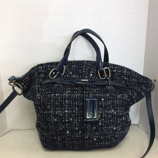 Primary Photo - BRAND: COACH STYLE: HANDBAG DESIGNER COLOR: BLUE SIZE: MEDIUM OTHER INFO: TWEED LEATHER TRIM SKU: 133-13373-11529